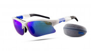 очки NONAME WOLF RACING GLASES WHITE/BLUE 2000579
