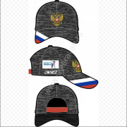 Кепка KV+ NATIONAL podium cap grey melange 20U152.1 RUS.
